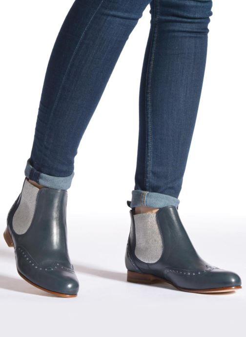 Bottines et boots Georgia Rose Perla Bleu vue bas / vue portée sac