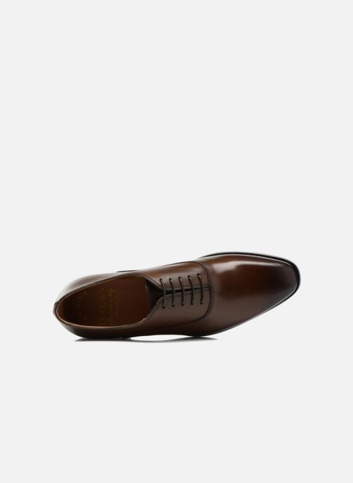 Zapatos con cordones Doucal's Guido Marrón vista lateral izquierda
