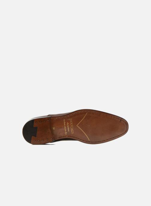Chaussures à lacets Doucal's Guido Marron vue haut