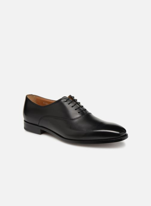 Lace-up shoes Doucal's Guido Black detailed view/ Pair view