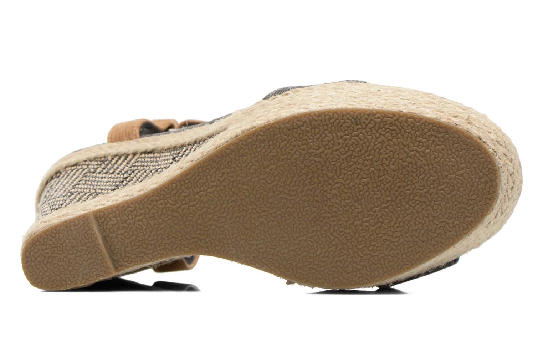 Sandales et nu-pieds Kaporal Rose Noir vue haut