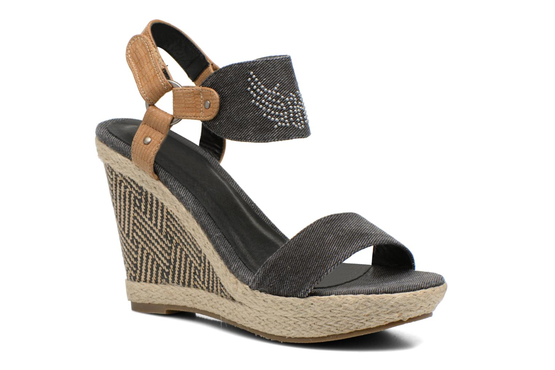 Sandales et nu-pieds Kaporal Rose Noir vue détail/paire
