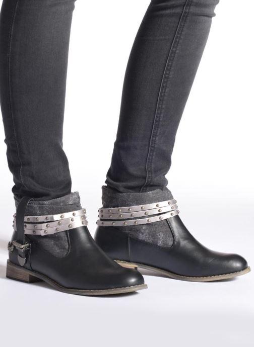 Bottines et boots Kaporal Bilow Noir vue bas / vue portée sac