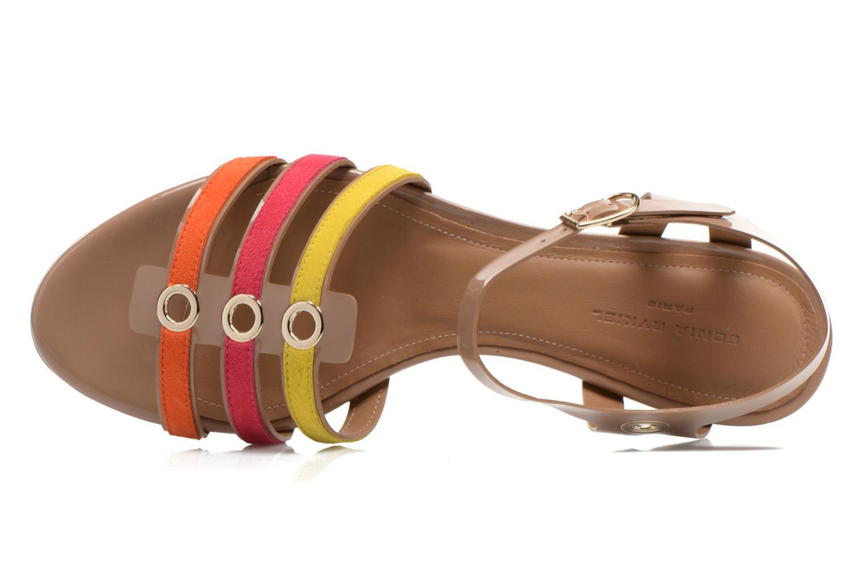 Sandales et nu-pieds Sonia Rykiel Podium Multicolore vue gauche