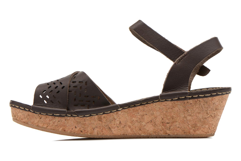 Sandales et nu-pieds TBS Alyson Marron vue face