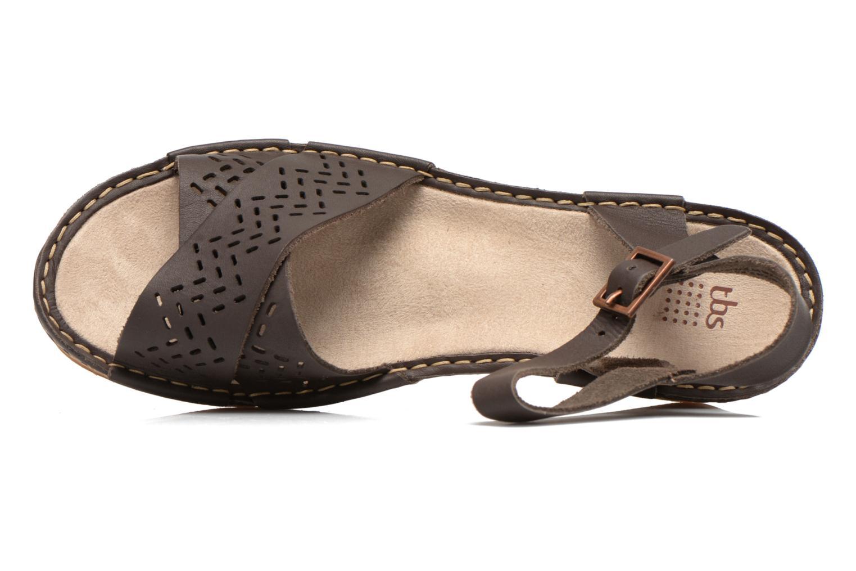 Sandales et nu-pieds TBS Alyson Marron vue gauche