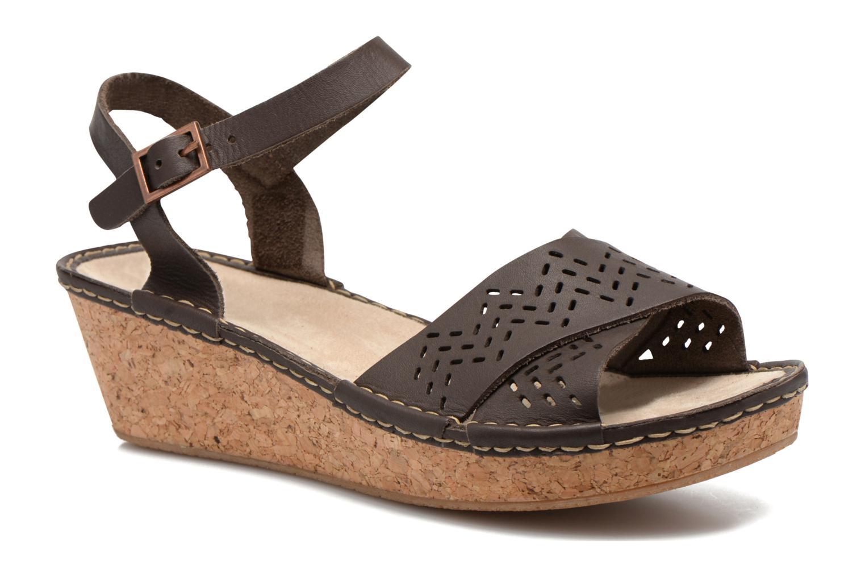 Sandales et nu-pieds TBS Alyson Marron vue détail/paire