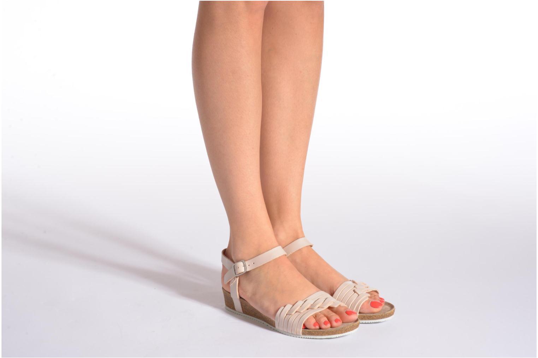 Sandales et nu-pieds TBS Kayemm Beige vue bas / vue portée sac
