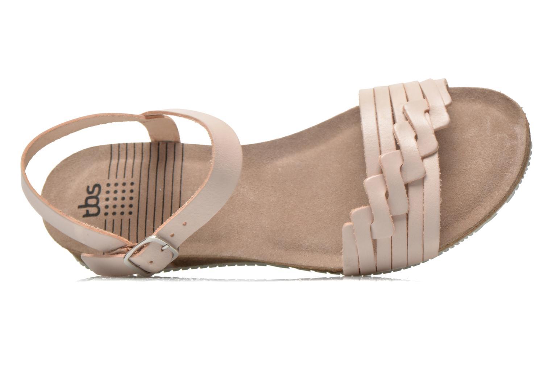 Sandales et nu-pieds TBS Kayemm Beige vue gauche