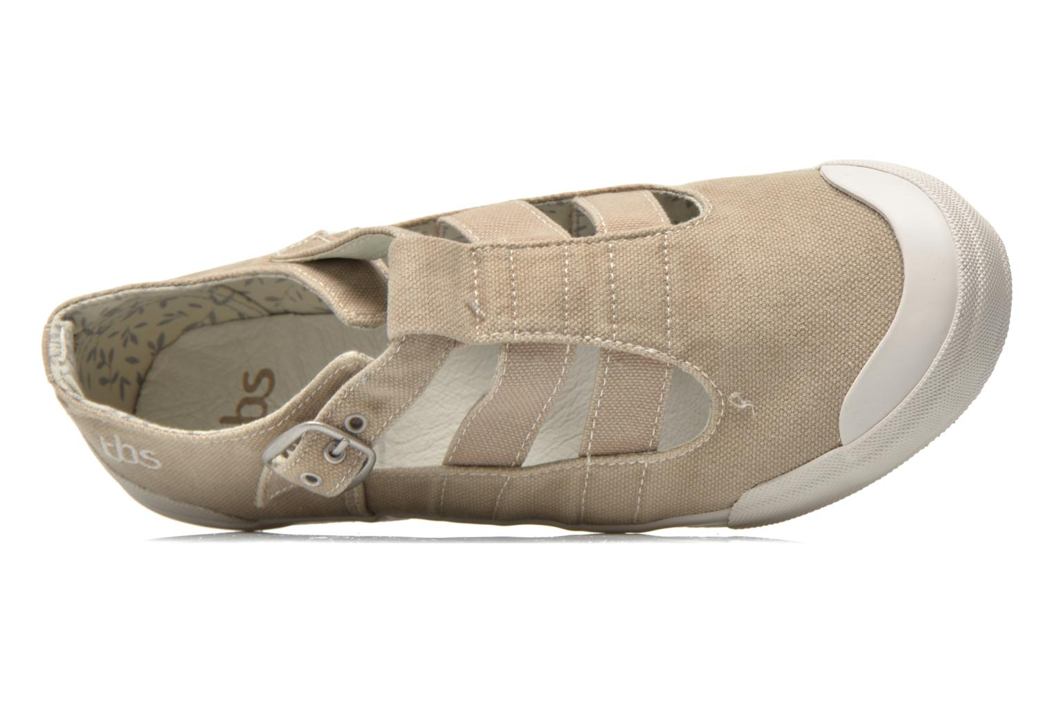 Trainers TBS Oriele Beige view from the left