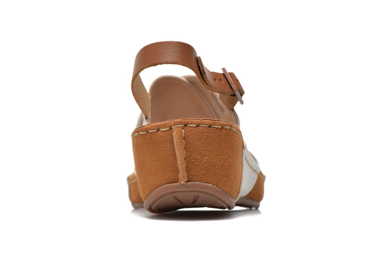 Sandales et nu-pieds TBS Valina Blanc vue droite