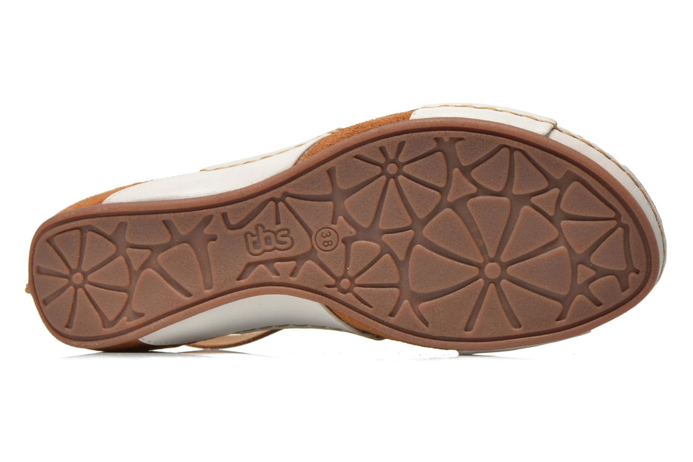Sandales et nu-pieds TBS Valina Blanc vue haut