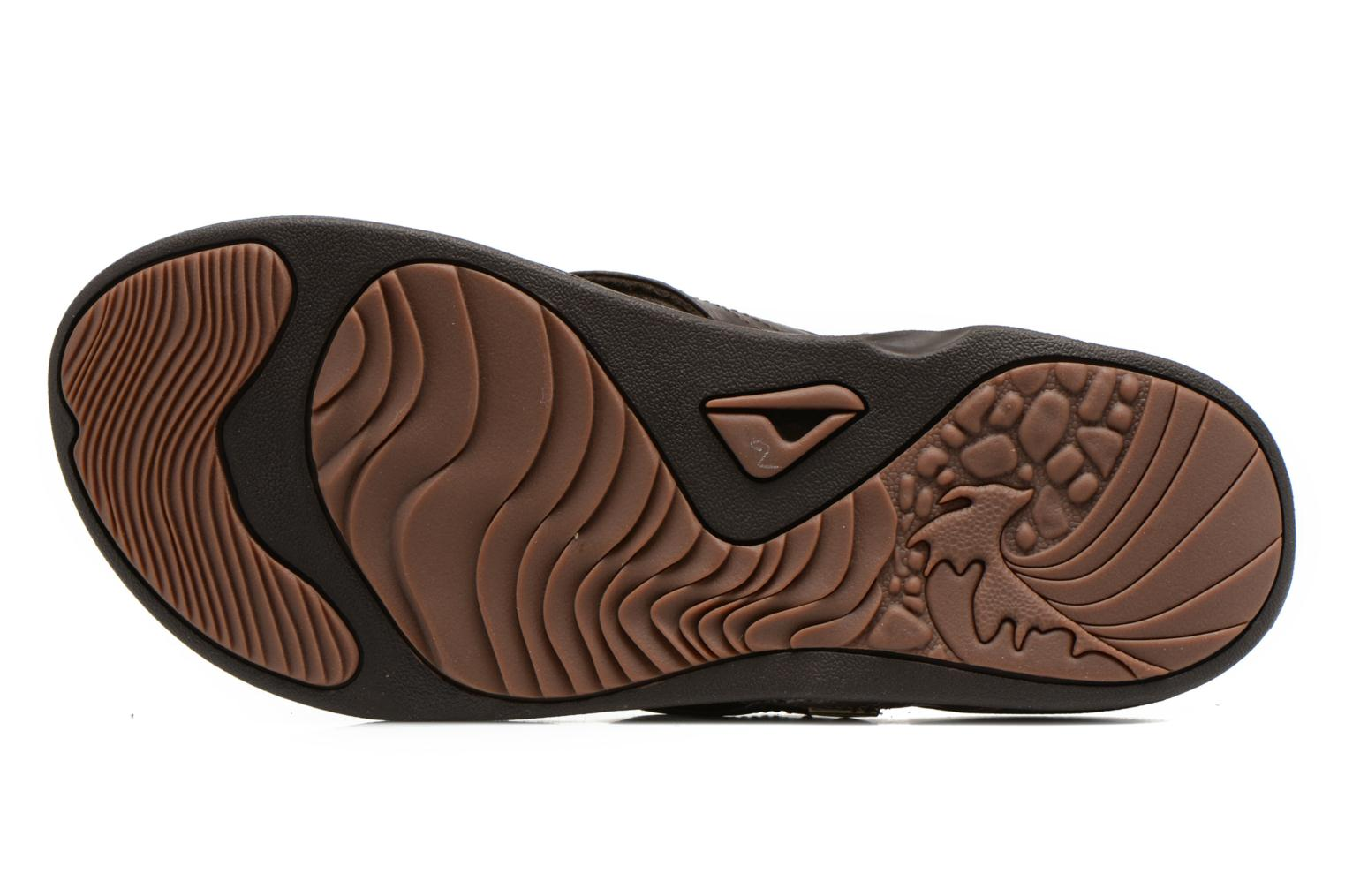 Tongs Reef J-Bay III Marron vue haut