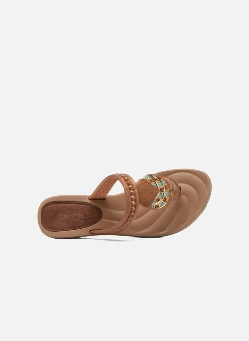 Mules & clogs Grendha Tribal Plat Fem Brown view from the left