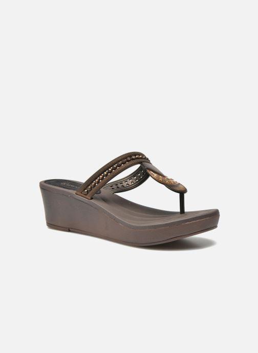 ... Chaussure femme · Grendha femme  Tribal Plat Fem. Tongs Grendha Tribal  Plat Fem Marron vue détail paire ee6e793e5142