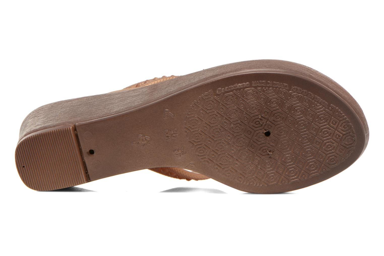 Flip flops Grendha Tribal Plat Fem Brown view from above