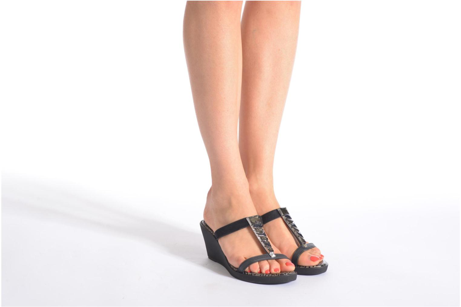 Mules & clogs Grendha Jewel Plat Black view from underneath / model view