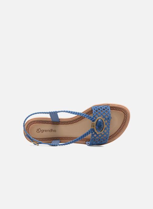 Sandales et nu-pieds Grendha Tribale IV Sandal Bleu vue gauche