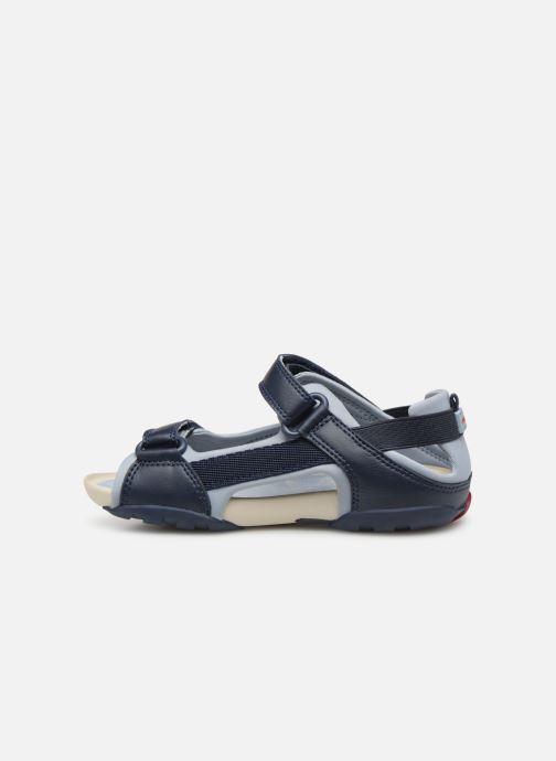 Sandalen Camper Ous E blau ansicht von vorne