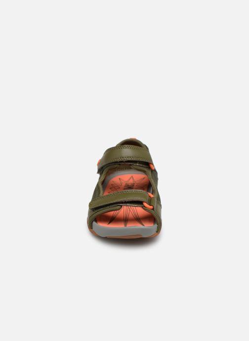 Sandales et nu-pieds Camper Ous E Vert vue portées chaussures