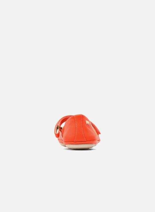 Ballerines Camper Twins E Orange vue droite