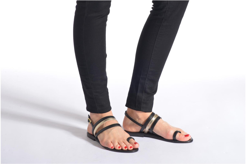 Sandales et nu-pieds Georgia Rose Camio Noir vue bas / vue portée sac