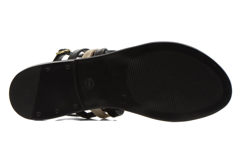Sandales et nu-pieds Georgia Rose Camio Noir vue haut