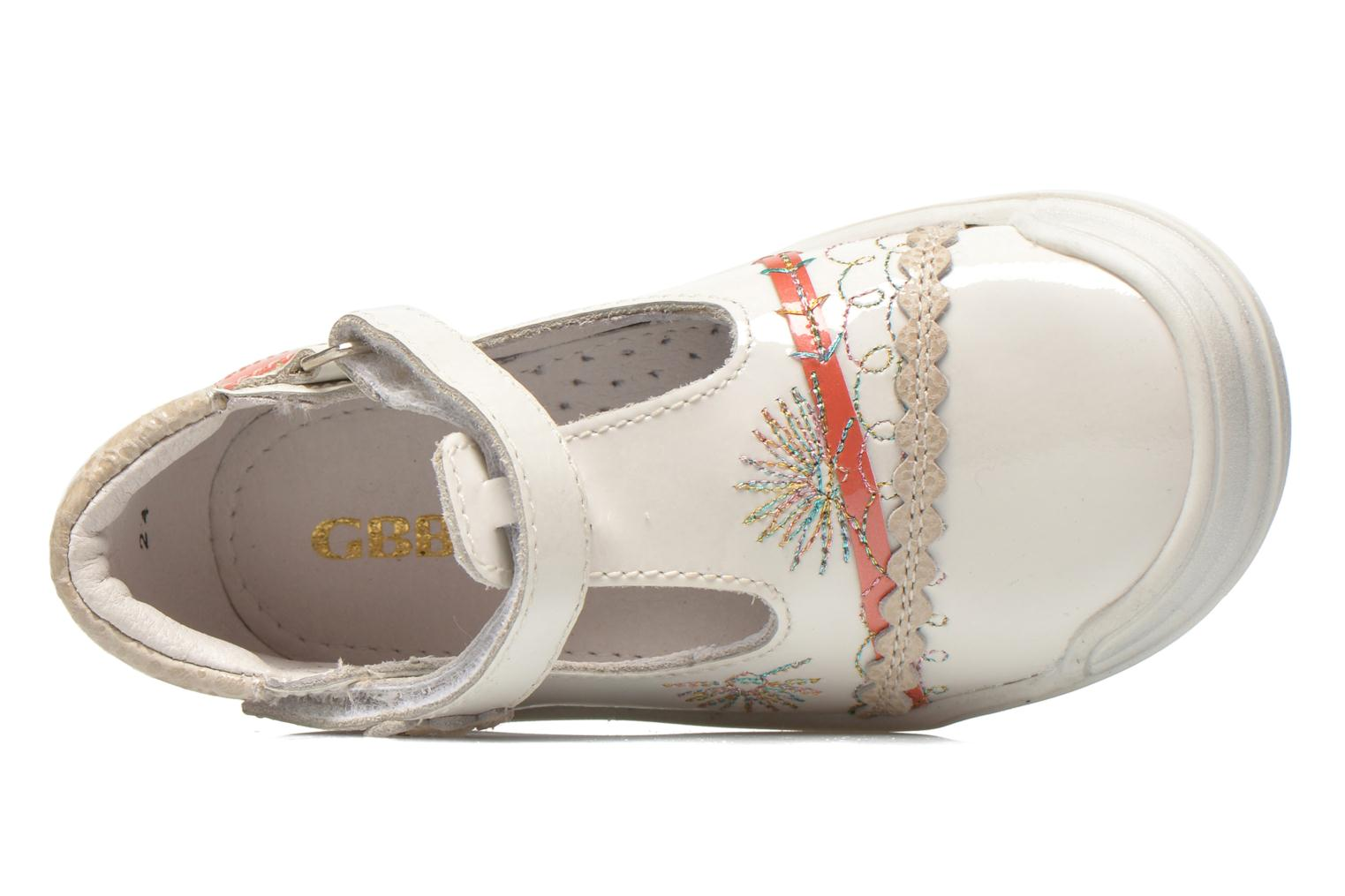 Ballet pumps GBB Melyna White view from the left