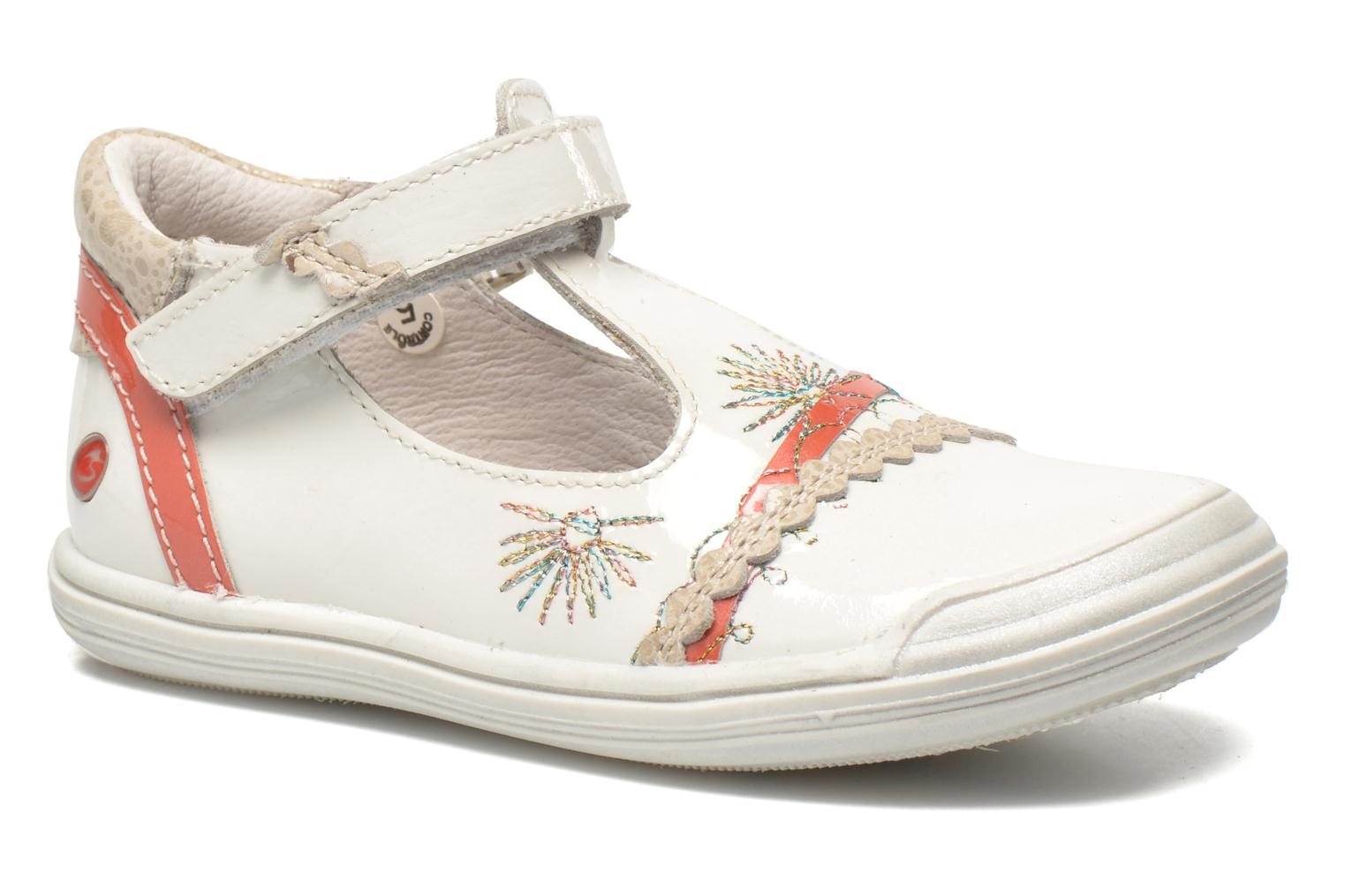 Ballet pumps GBB Melyna White detailed view/ Pair view
