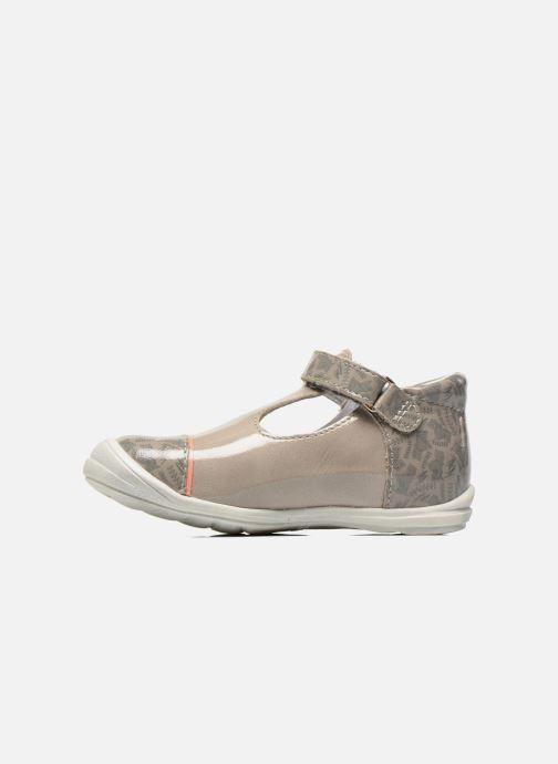 Zapatos con velcro GBB Melissa Gris vista de frente