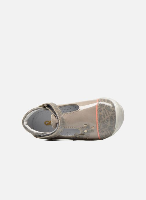 Zapatos con velcro GBB Melissa Gris vista lateral izquierda