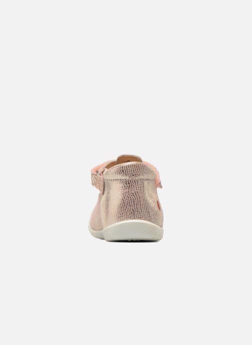 Zapatos con velcro GBB Margot Rosa vista lateral derecha