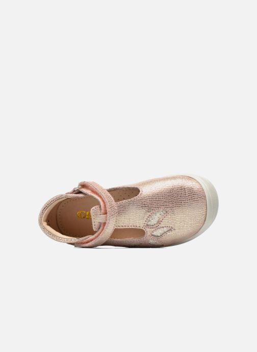 Zapatos con velcro GBB Margot Rosa vista lateral izquierda