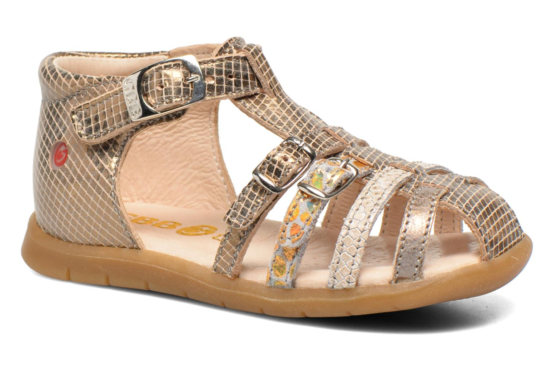 Sandalias GBB Mina Oro y bronce vista de detalle / par