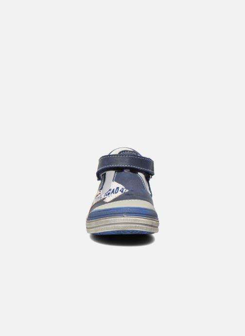 Chaussures à scratch GBB Mika Bleu vue portées chaussures