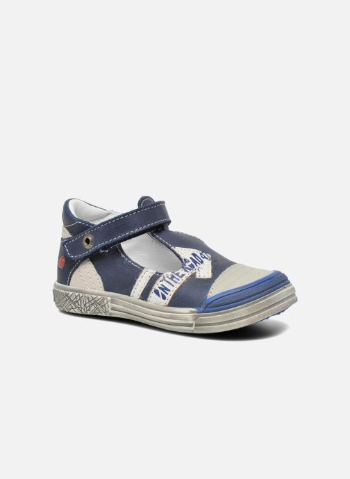 Velcro shoes GBB Mika Blue detailed view/ Pair view