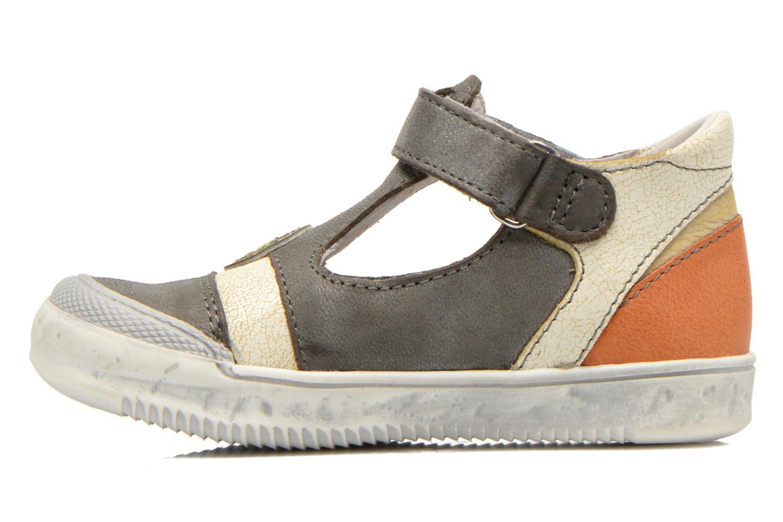 Chaussures à scratch GBB Mao Gris vue face