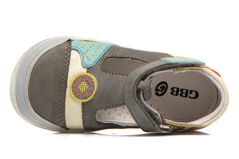 Chaussures à scratch GBB Mao Gris vue gauche