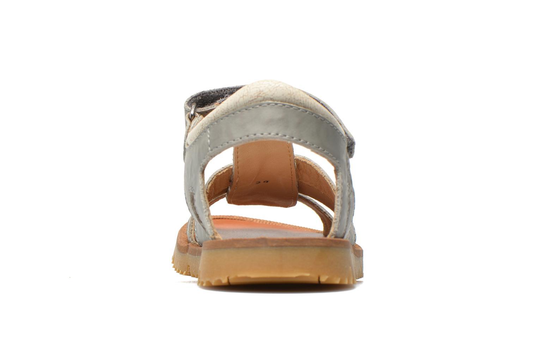 Sandales et nu-pieds GBB Martial Gris vue droite