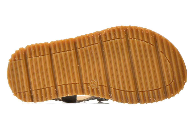 Sandales et nu-pieds GBB Martial Gris vue haut