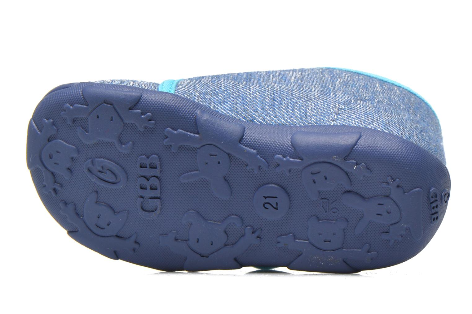 Slippers GBB Maverick Blue view from above