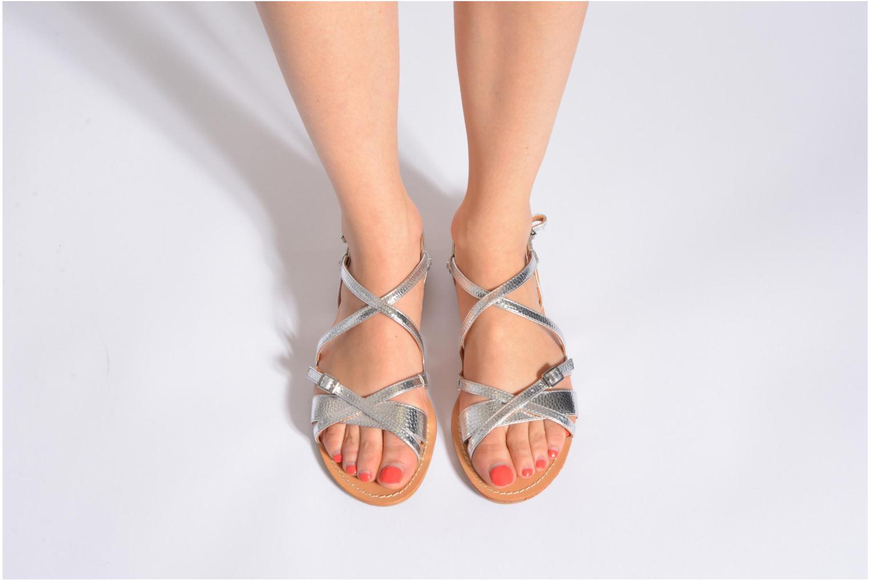 Sandales et nu-pieds Mellow Yellow Vanille Argent vue bas / vue portée sac