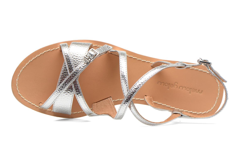 Sandales et nu-pieds Mellow Yellow Vanille Argent vue gauche