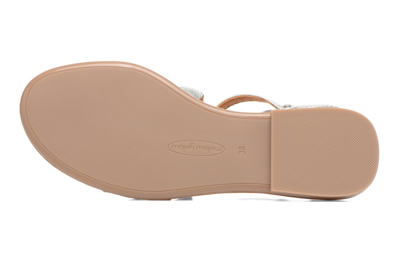 Sandales et nu-pieds Mellow Yellow Vanille Argent vue haut