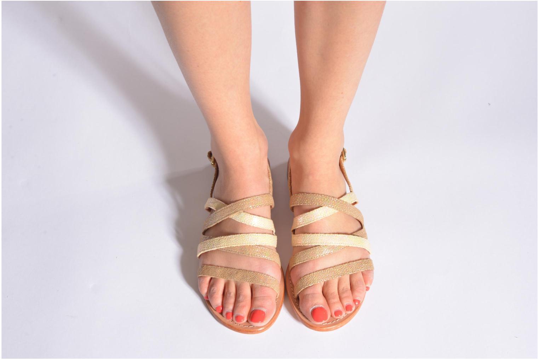 Sandales et nu-pieds Mellow Yellow Valoma Noir vue bas / vue portée sac