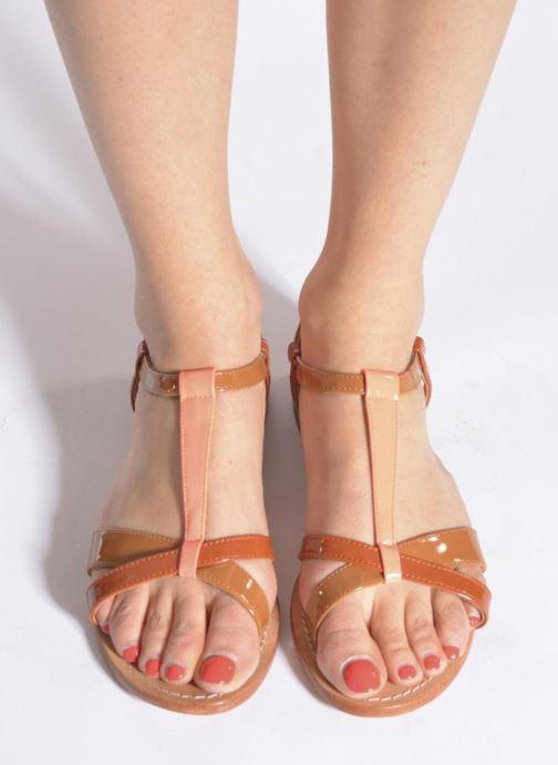 Sandales et nu-pieds Mellow Yellow Valentine Marron vue bas / vue portée sac