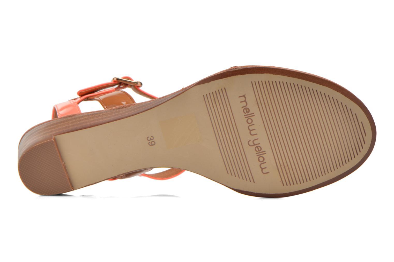 Sandales et nu-pieds Mellow Yellow Valentin Orange vue haut