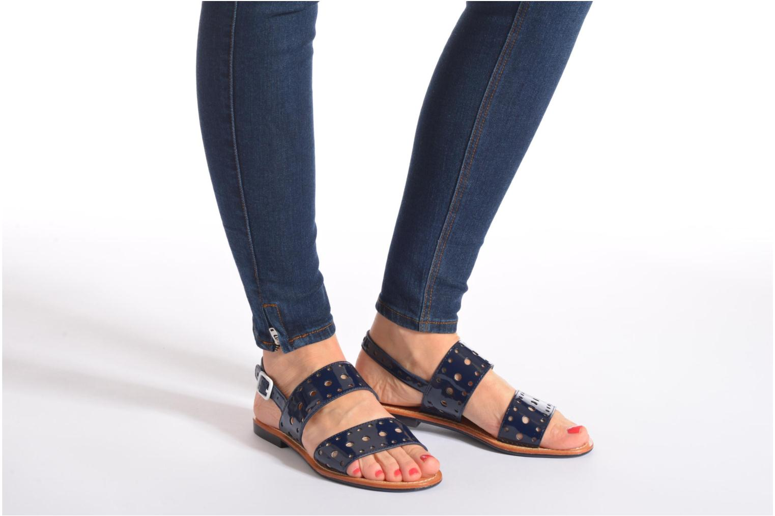 Sandals Mellow Yellow Vadina Blue view from underneath / model view