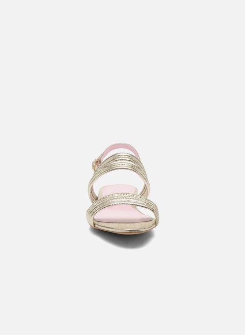 Sandales et nu-pieds Mellow Yellow Veo Or et bronze vue portées chaussures