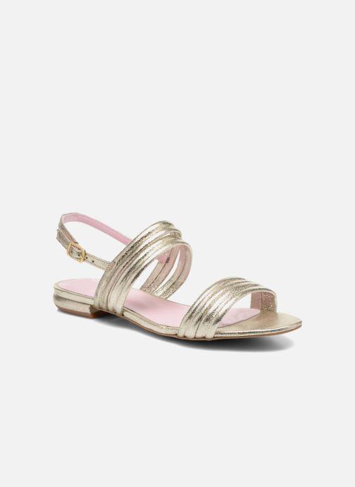 Sandales et nu-pieds Mellow Yellow Veo Or et bronze vue détail/paire